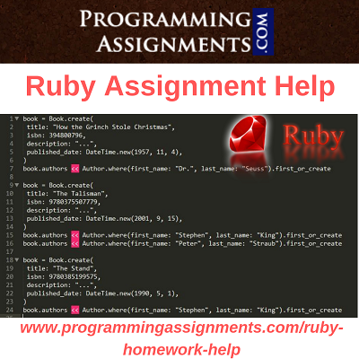 Ruby Programming Assignment Help